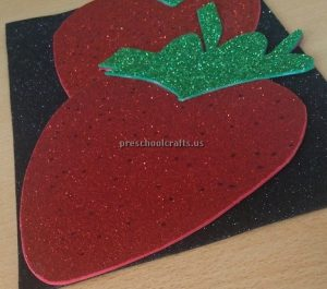 Kindergarten Spring Fruits Craft Ideas - Strawberry Craft Ideas