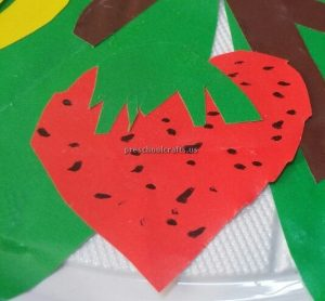 Kindergarten craft idea related to strawberry