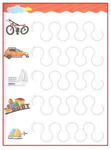 Printable Tracing Line Worksheet for Kids