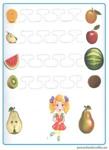 Printable Tracing Line Worksheet for Kindergartner