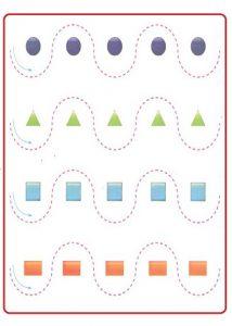 Printable Tracing Line Worksheet for Preschool Teachers
