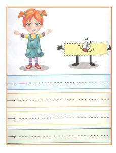 Printable Tracing Line Worksheet for Toddler