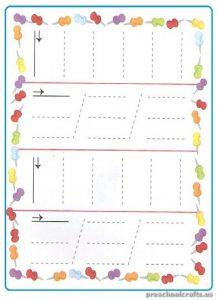 Printable Tracing Sheets for Kindergarten
