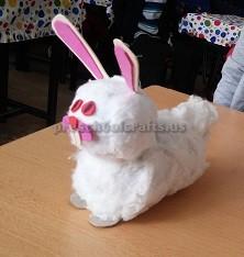 Rabbit craft to easter for preschool