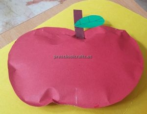 Red Apple Craft Ideas for Kindergarten - Spring Fruits Craft Ideas