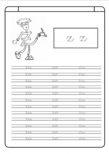 Small letter z worksheet kindergarten - Practice tracing Line letter z worksheets for 1st grade