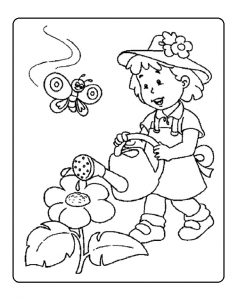 Spring coloring sheet for ppreschool - free printable