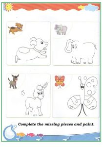 Spring theme animal worksheet for preschool