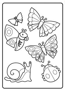 Spring theme animals coloring pages for kids free printable