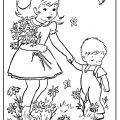 Spring theme coloring pages for kindergartners free printable