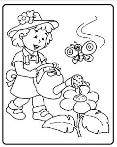 Spring theme coloring pages for preschool - free printable