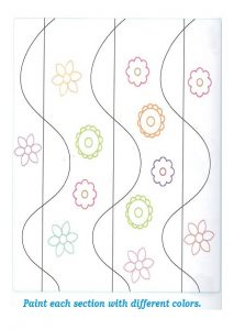 Spring theme coloring sheet for preschool