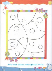 Spring theme coloring worksheet for preschool