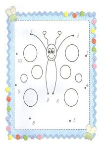 Spring theme dot to dot sheet for preschool