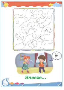 Spring theme painting worksheet for kindergarten