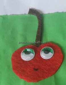 Strawberry Craft Idea for Kindergarten - Spring Fruits Craft Idea