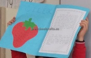 Strawberry Craft Idea for Kindergarten - Spring Fruits Craft Ideas