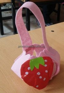 Strawberry Craft Ideas for Kindergarten - Spring Fruits Craft Ideas