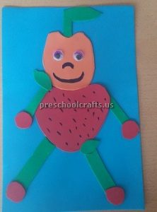 Strawberry Craft Ideas for Kindergarten - Spring Fruits Robot Craft Ideas