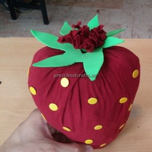 Strawberry Craft Ideas for Kindergartner - Spring Fruits Craft Ideas