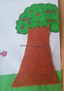 Strawberry Tree Craft Ideas for Kindergarten - Spring Fruits Craft Ideas