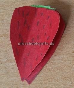 Strawberry craft idea for kindergartner
