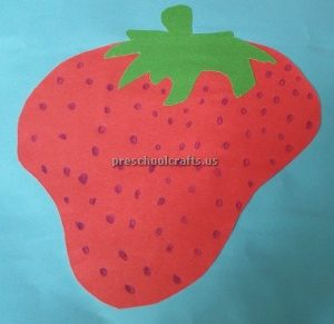 Strawberry craft idea for preschool