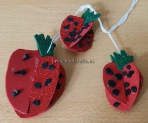 Strawberry craft ideas for kindergarten