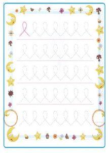 Tracing Line Worksheet for Kids