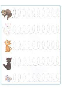 Tracing Line Worksheet for Preschooler