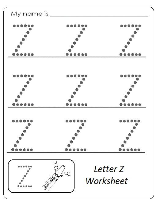 uppercase letter z worksheet free printable preschool and kindergarten. Black Bedroom Furniture Sets. Home Design Ideas
