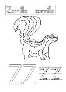 Uppercase Letter Z Worksheet - Zorilla Coloring Sheet