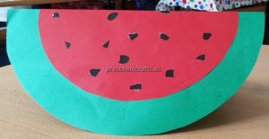 Watermelon Craft Idea for Kindergarten - Spring Fruits Craft Ideas