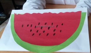 Watermelon Craft Ideas for Kindergarten - Spring Fruits Craft Ideas