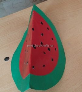 Watermelon Craft Ideas for Kindergartner - Spring Fruits Craft Ideas
