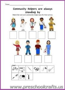 Community Worksheets For Kindergarten & community worksheets for ...