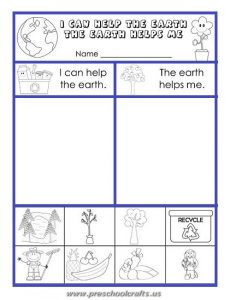 earth day printable mazes worksheets