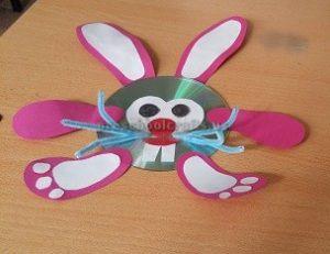 easter bunny cd craft for preschool