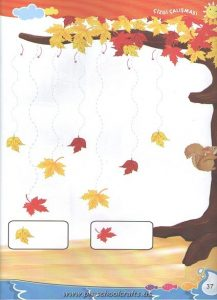 free Autumn trace line worksheets