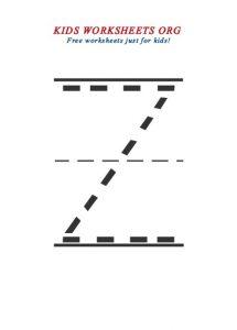 free printable capital letter z worksheet