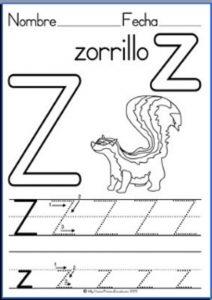 free uppercase letter z worksheet