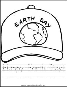 happy earth day worksheets for preschoolers