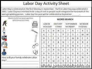 labor day worksheets for kindergarten