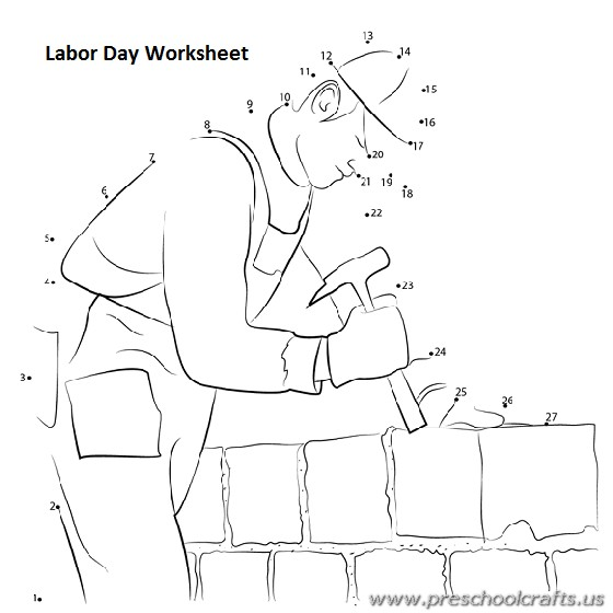 Labor Day Worksheets for Kids Preschool and Kindergarten