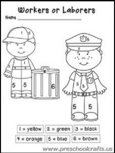 labour day worksheets for kids