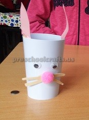 paper cup craft ideas related to bunny
