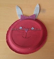 paper plate bunny crafts for kindergarten