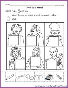 printable community worksheets for kids