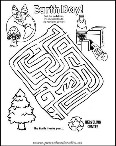 printable earth day kids worksheets