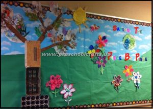 recycle materials earth day bulletin boards